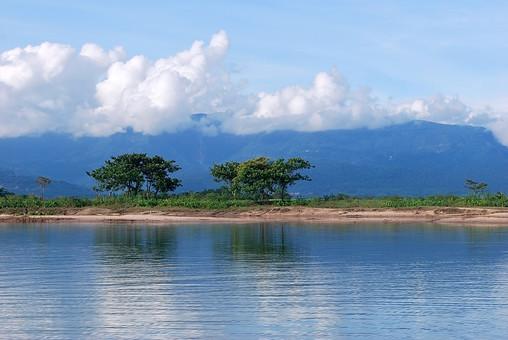 バングラディッシュ 外国 海外 自然 風景 景色 環境  植物 緑 森 林 山 晴れ 晴天 森林 樹木 樹 木 木々 広大 壮大 癒し 河 川 河川 流れ 水 水面