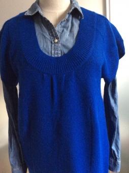 セーター ワンピース チュニック ブラウス シャツ レディース ネイビー アンゴラ ラビット ウール コットン 毛 ウサギ 綿 ブルー 青