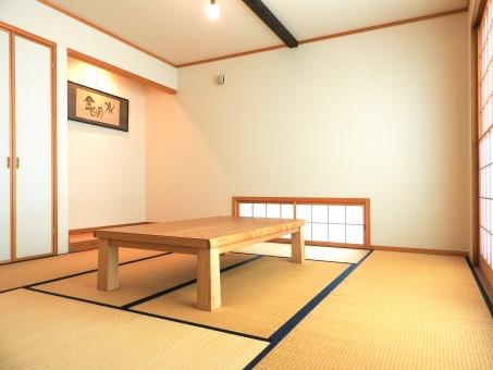 家 住宅 和室 畳 タタミ たたみ 和風 和 日本 japan 床の間 横 障子 イメージ 机 掛け軸