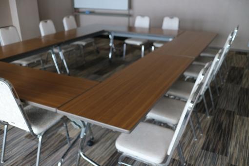 ビジネス 会議 会議室 ミーティング ホワイトボード セミナー 無人 仕事 テーブル