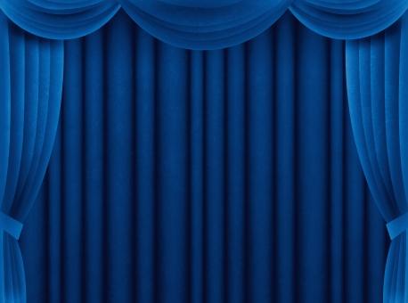 カーテン 幕 緞帳 舞台 ステージ 発表 表彰 受賞 アワード お祝い 豪華 ゴージャス 特別 スペシャル 荘厳 重厚 背景 バック 青色 布