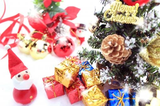 クリスマスとサンタの写真