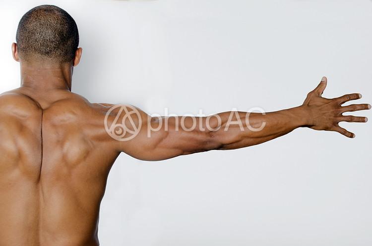 筋肉質な男性の後姿1の写真
