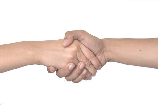 人物 背景 白 白背景 白バック 切り抜き パーツ ボディパーツ 腕 ポイント 指 手首 ジェスチャー 身ぶり 肌 余白  シンプル ハンドパーツ 右手 二つの手 握手 腕相撲 友達 シェイクハンズ 手を握る コミュニケーション 挨拶