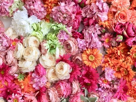 花束の壁3の写真
