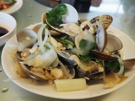空 ハマグリ 蛤 台湾 海鮮 海鮮居酒屋 海鮮レストラン 旅行