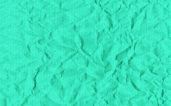 クシャクシャ くしゃくしゃ 皺 しわ シワ 紙 洋紙 ボール紙 再生紙 エンボス 凹凸 背景 背景画像 テクスチャ バックグラウンド ビビッド シアン 浅葱 青 水色 ビビッド