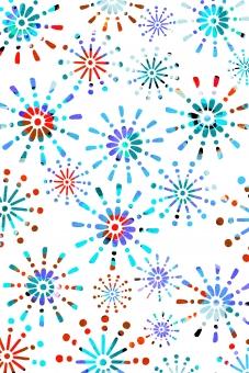 背景 背景素材 テクスチャ 花火 fireworks 祭り カラフル 柄 花火柄 夏 真夏 浴衣 壁紙 布 ブルー 水色 青 爽やか 模様