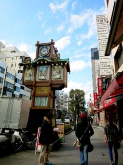 ningyocho nihonbashi tokyo 16 歩道 商店街 空 人形町 日本橋 東京 からくり時計 時計台 落語 通り 観光