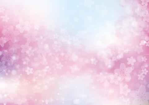 春 桜 花 夢 4月 テクスチャ 背景 素材 きらめき きらきら キラキラ 輝き 入学 卒業 お祝い さくら 立春 バレンタイン 雛まつり ホワイトデー 入園 卒園 合格 母の日 プロポーズ バック 青 空 青空 ピンク