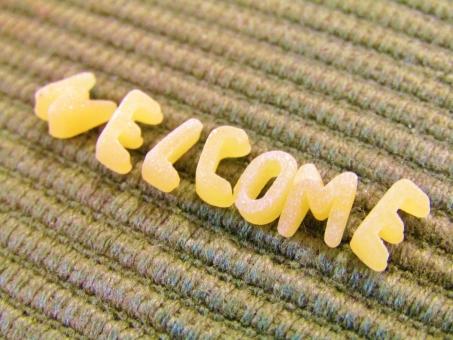 welcome ウェルカム 文字 もじ 英文字 英語 布 ぬの 生地 きじ えいご えいもじ ようこそ