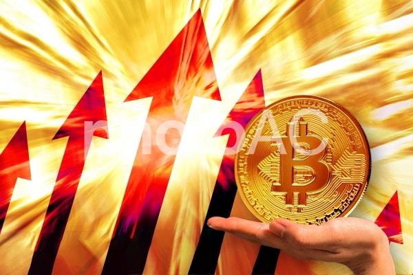 ビットコイン爆上げの写真