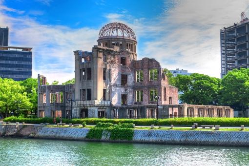 原爆ドーム【絵画風・対岸から】