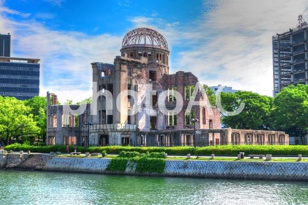 原爆ドーム【絵画風・対岸から】の写真