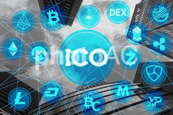 ICO(新規仮想通貨公開)と仮想通貨の写真