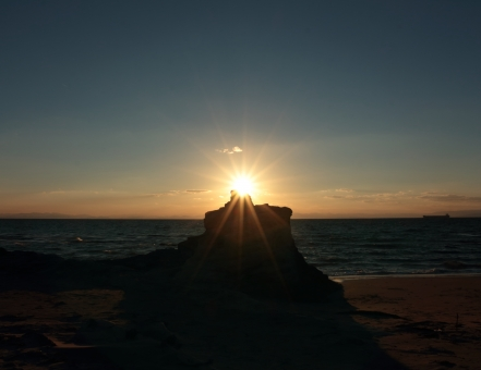 夕日 海 太陽 夕焼け 夏
