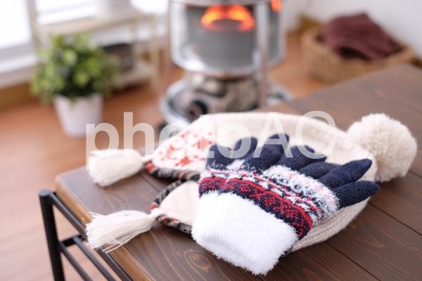 手袋とニット帽の写真