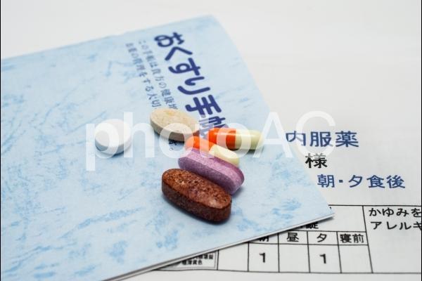 薬とお薬手帳の写真