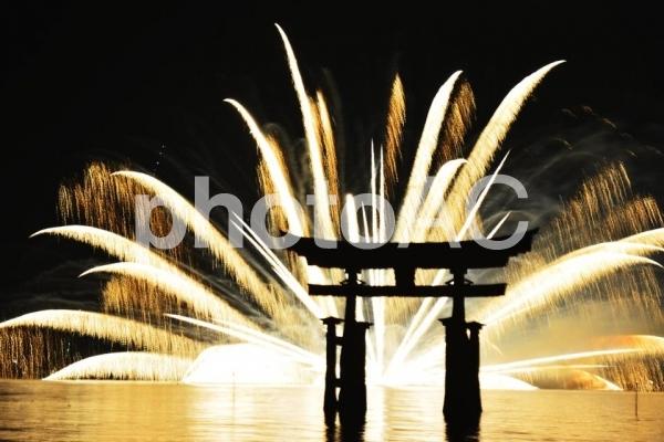 宮島 花火大会の写真