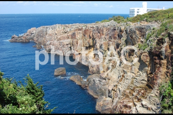 断崖絶壁 南紀白浜 三段壁 海 解放感の写真