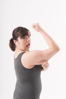 日本人 女性 ぽっちゃり 肥満 ダイエット 痩せる 痩せたい 目標 ビフォー アフター 太っている 太り気味 メタボ メタボリックシンドローム 脂肪 体系 ボディー 白バック 白背景 筋肉 筋トレ トレーニング 上腕二頭筋 セルライト 腕を見せる 力こぶ 贅肉 つかむ 掴む つまむ 横顔 驚く 恥ずかしい 困る 口を開ける 二の腕 mdjf020