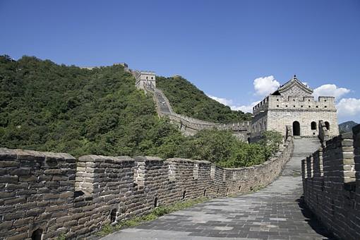 中国 中華人民共和国 外国 海外 外国風景 海外風景 アジア 北京 景色 風景 自然 観光 観光名所 旅行 万里の長城 史跡 名所 歴史 世界遺産 ユネスコ 文化遺産 世界文化遺産 関 歩道 石畳