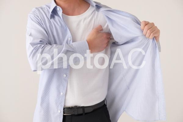 夏のビジネスマンの写真