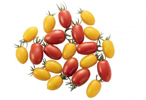 白バック 白背景 食べ物 フレッシュ 夏 かわいい 野菜 トマト きれい 真っ赤 黄色 小さい 赤い プチトマト 農業 緑黄色野菜 ヘルシー 光沢 リコピン 食材 赤色 新鮮 栄養 ビタミン 実 ツヤ 物撮り 甘い 鮮やか ミニ 美味しい 農作物 農産物 夏野菜 とまと ミニトマト 生食 中南米原産 アイコ ブツ撮り 濃赤色 アイコトマト psd パス付き切り抜き画像