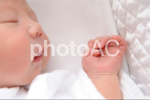 産まれたての赤ちゃんの写真