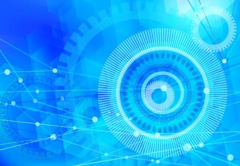 ライトブルーのネットワークテクノロジー抽象背景素材の写真