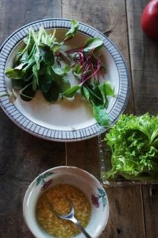 グリーンサラダ サラダ さらだ 野菜 ドレッシング やさい ベビーリーフ ルッコラ リーフレタス レタス lettuce salad