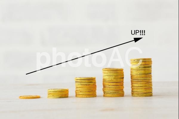 お金の増加の写真