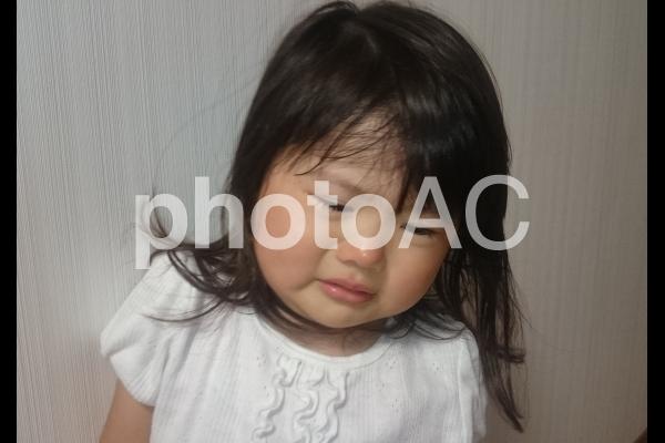 子供の泣き顔の写真