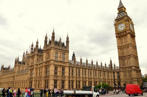 イギリス ロンドン ビッグベン 時計 外国 人々
