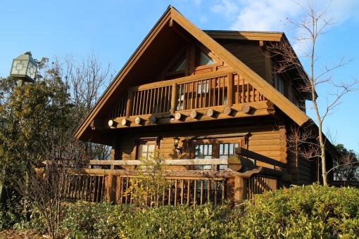 風景 景観 建物 家 ログハウス ロッジ ホテル 旅行 キャンプ 観光 青空
