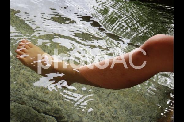 足湯の写真