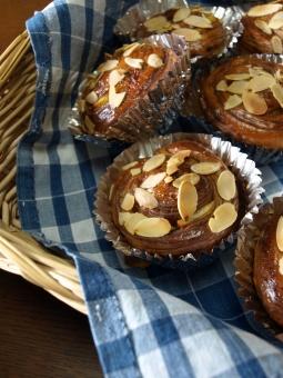 手作り 手作りパン パン教室 パン屋 デニッシュ ペストリー チョコレート カゴ ブーランジェリー アーモンド 甘いもの 朝ごはん ランチ ブランチ 美味しそう