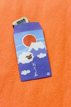 和紙 小物 お年玉 ポチ袋 お正月 日本 冬 お金 おこずかい 千円札 1,000円