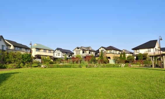 美しい住宅地の写真