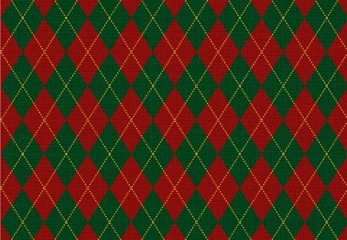 アーガイル柄 アーガイル 赤色 緑色 クリスマス 模様  パターン シームレス テクスチャ 背景 壁紙 素材 ニット セーター チェック柄 菱形 布地 生地