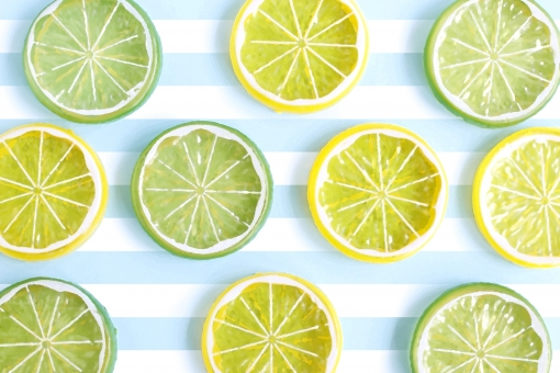 爽やかなレモンライムの写真
