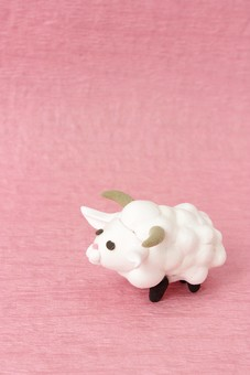 クレイ クレイアート クレイドール ねんど 粘土 クラフト 人形 アート 立体イラスト 粘土作品 動物 かわいい 干支 年賀 年賀状 羊 ひつじ ヒツジ 未年