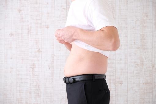 肥満 男性 メタボ ダイエット デブ お腹 腹 脂肪 体脂肪 皮下脂肪 健康管理 成人病 肥満体 メタボリック 中年太り 内臓脂肪 ボディパーツ 健康診断 中年 人物 一人 生活習慣 医療 贅肉 ウエスト 測る フィットネス エクササイズ 裸 減量 おなか ビール腹 ぷっくり 瘦せ型 やせ 横向き