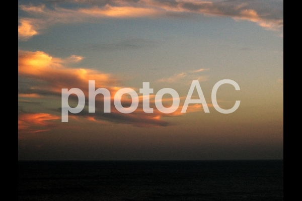 夕焼け雲の写真