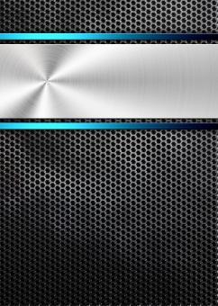 背景 背景素材 金属 光沢 パンフレット チラシ カタログ ポスター 表紙 IT テクノロジー パンチングメタル 光沢 黒 ブラック black テンプレート ビジネス クール background シルバー silver 青 ブルー 銀 会社案内 blue テクスチャー テクスチャ science