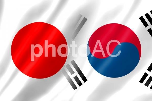 日韓国旗1 シンプルの写真