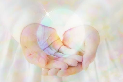 癒しの手の写真