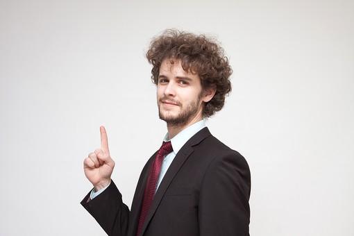 男性 Men 男 男子 外国人 外国人モデル 20代 30代 ビジネスマン サラリーマン スーツ ビジネススーツ 背広 ネクタイ シャツ ジャケット 白背景 指さし 教える ポイント 1 ワン one 数字 ポーズ ジャケット ハンサム mdfm045