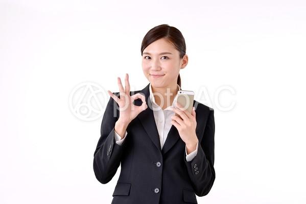 スーツ姿の女性246の写真
