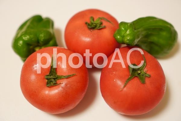 夏野菜のトマトとピーマン3の写真